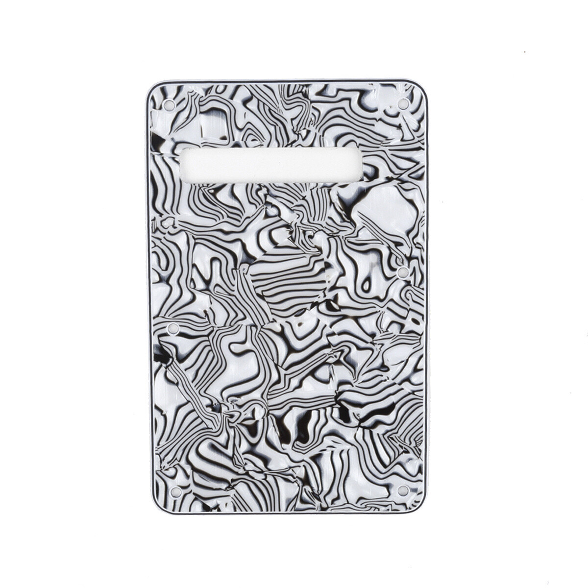 Brio Shell Black Modern Style Back Plate Tremolo Cover 4 ply - US/Mexican Fender®Strat® Fit