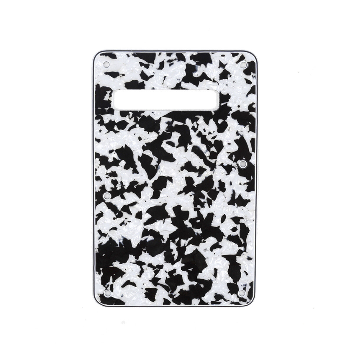 Brio Agate Black Modern Style Back Plate Tremolo Cover 4 ply - US/Mexican Fender®Strat® Fit