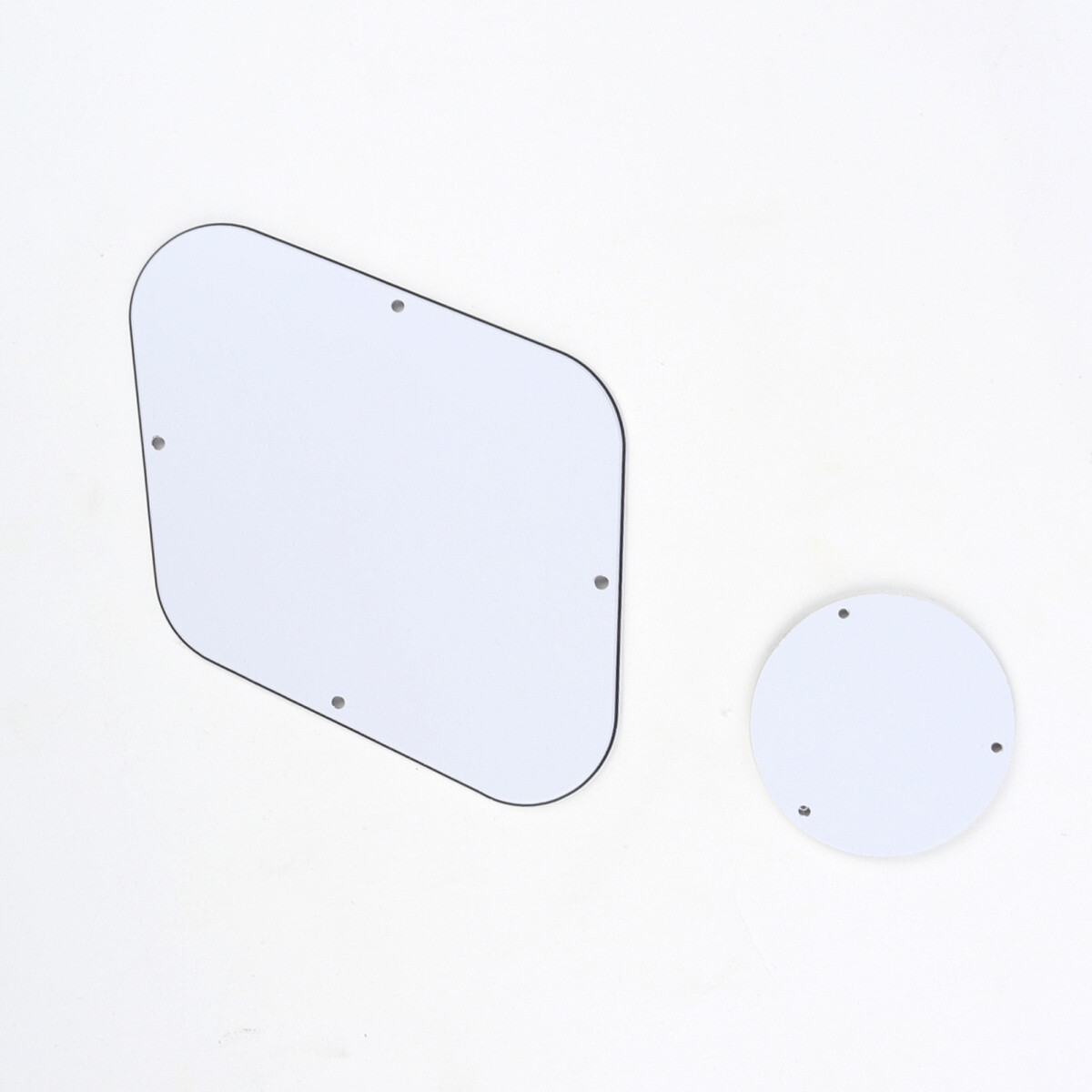 Brio Les Paul Backplate & Switch Cover 3 Ply White