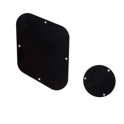 Brio Les Paul Backplate & Switch Cover 3 Ply Black