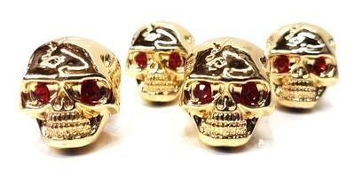 Brio 4 x Skull Knobs Volume Tone Gold