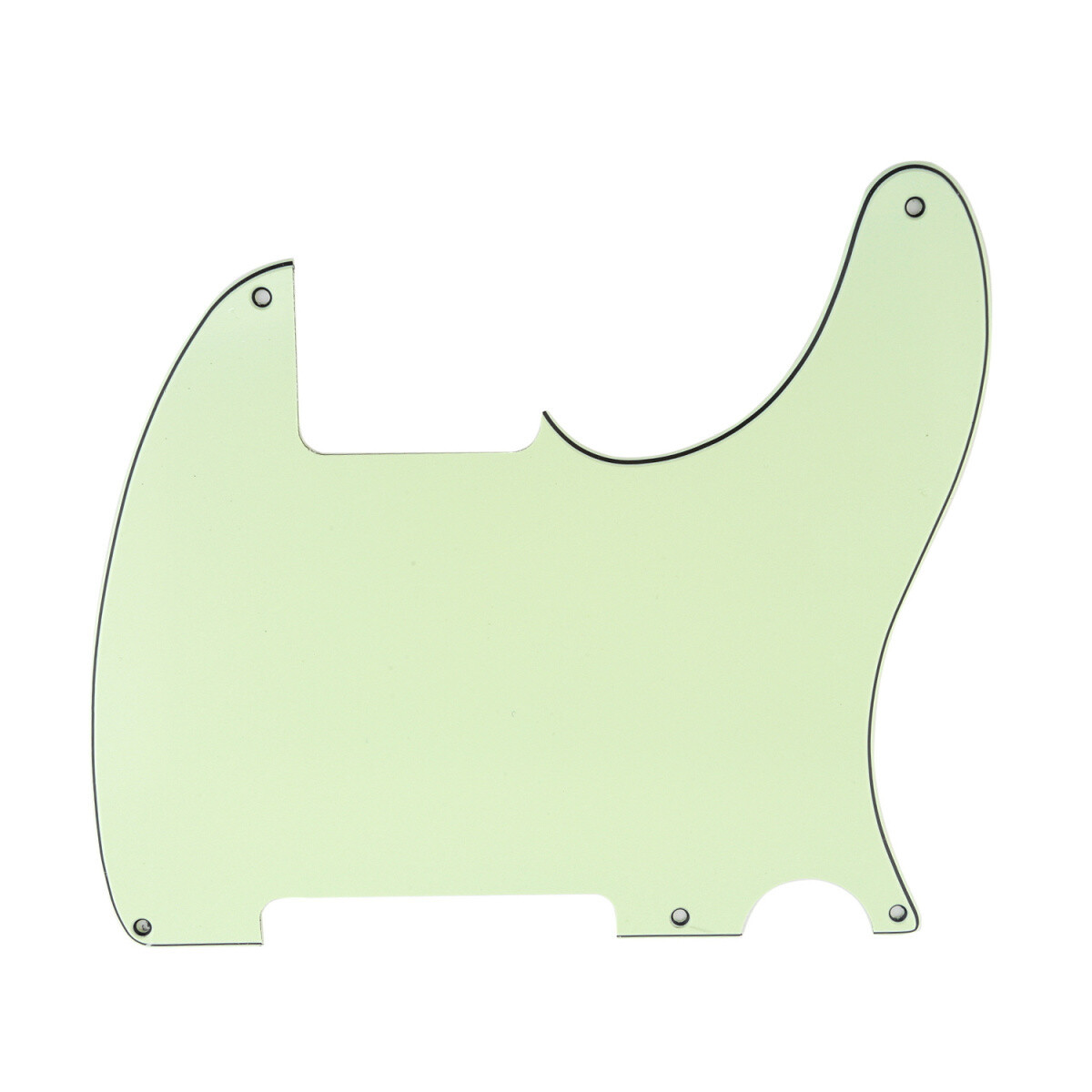 Carparelli Vintage Esquire 5 Hole Tele® Pickguard RH 3 Ply Mint Green