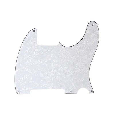 Carparelli Vintage Esquire 5 Hole Tele® Pickguard RH 4 Ply Pearloid White