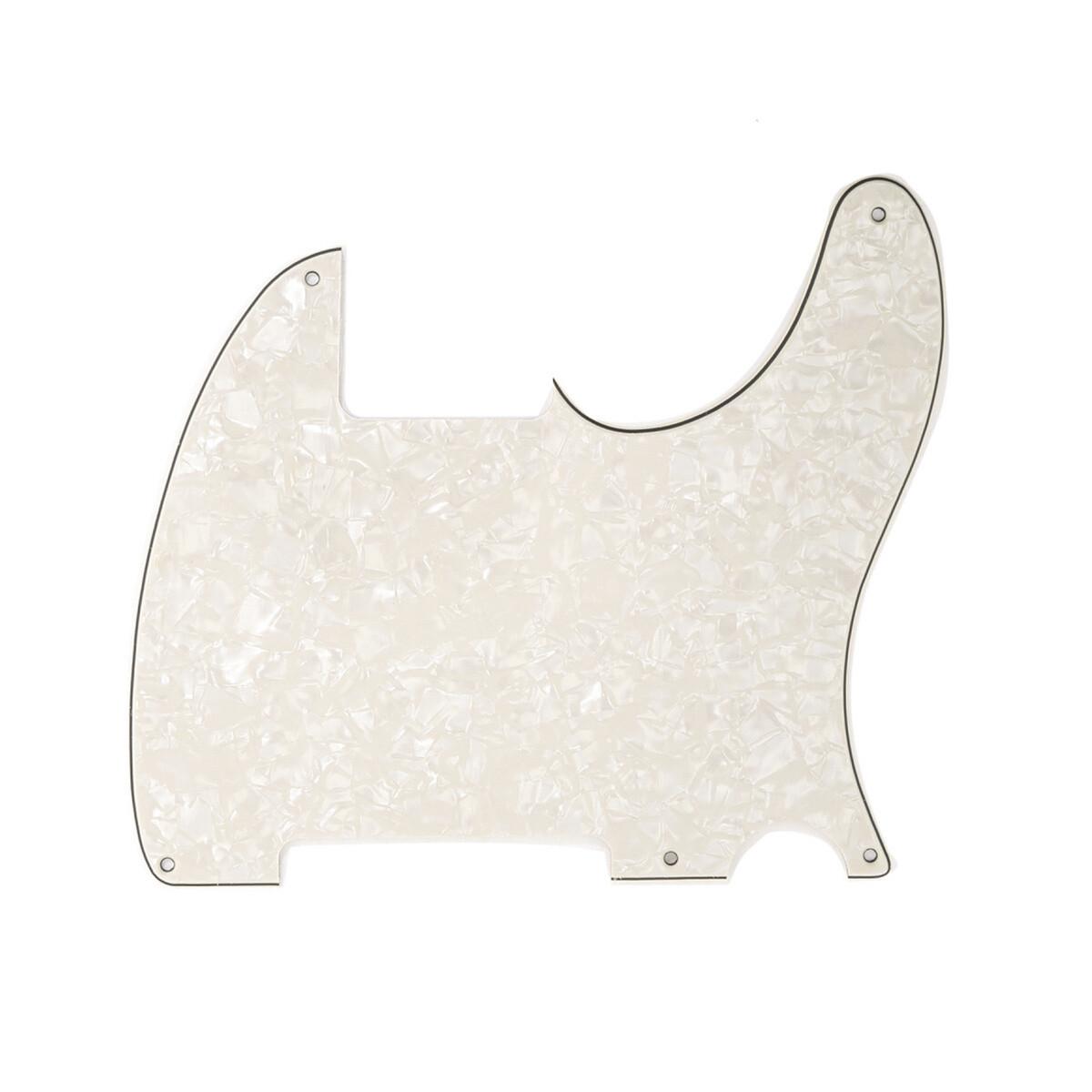 Carparelli Vintage Esquire 5 Hole Tele® Pickguard RH 4 Ply Pearloid Parchment