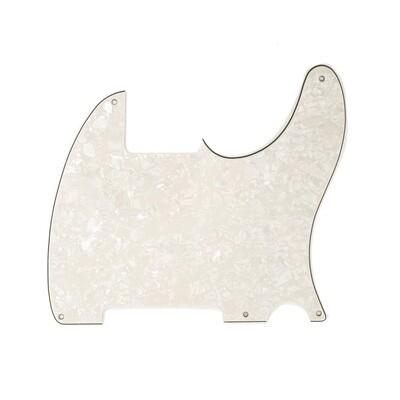 Brio Vintage Esquire 5 Hole Tele® Pickguard RH 4 Ply Pearloid Parchment