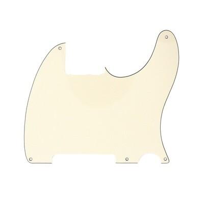 Brio Vintage Esquire 5 Hole Tele® Pickguard RH 3 Ply Cream