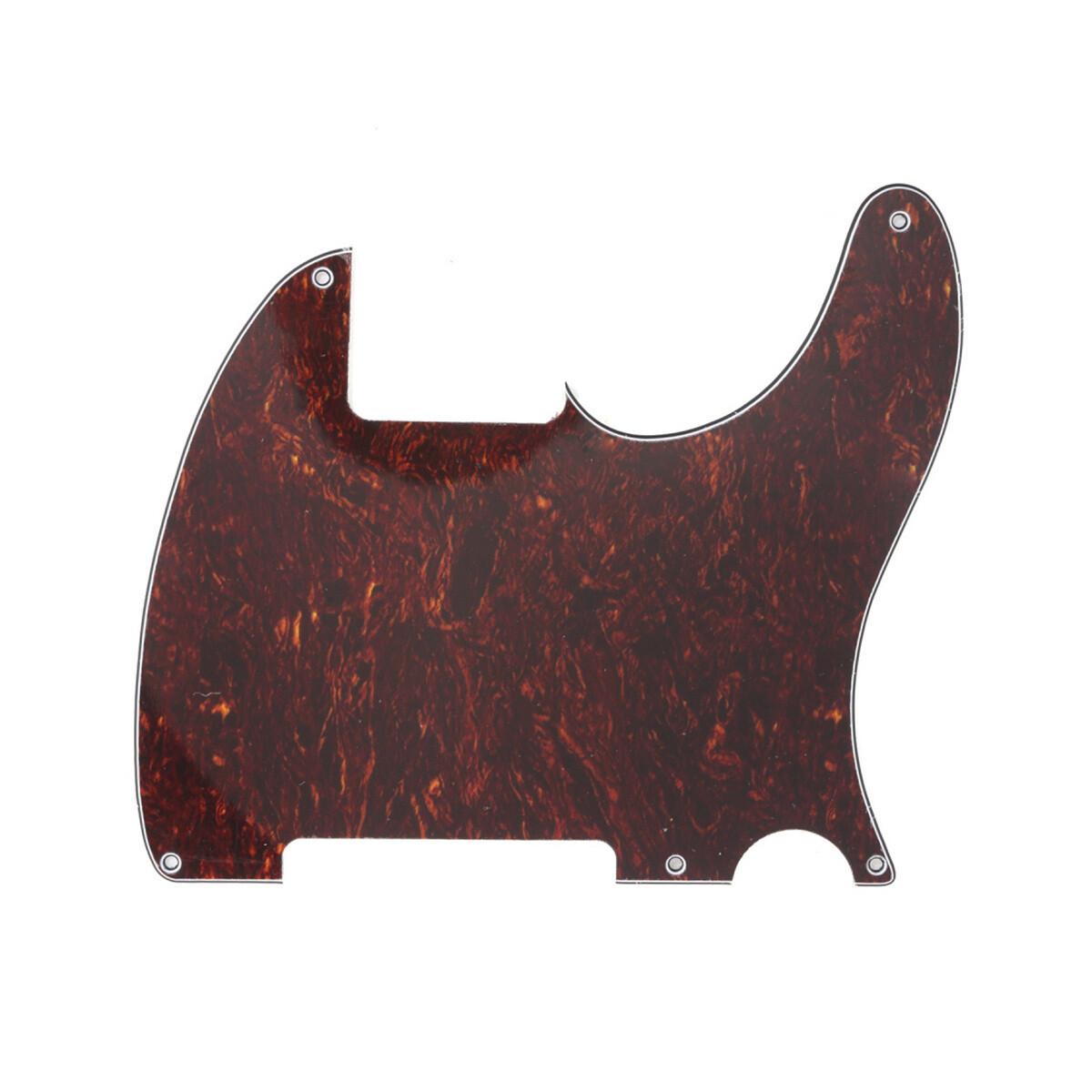 Carparelli Vintage Esquire 5 Hole Tele® Pickguard RH 4 Ply Red Tortoise