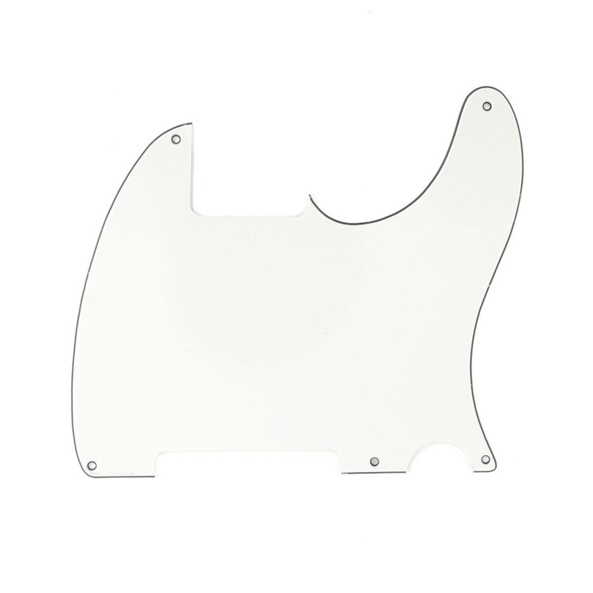 Carparelli Vintage Esquire 5 Hole Tele® Pickguard RH 3 Ply Parchment
