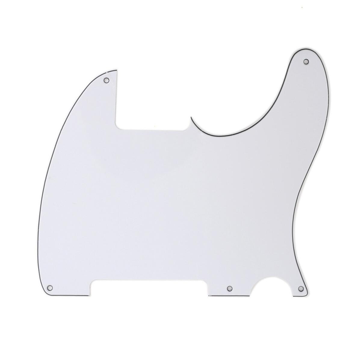 Carparelli Vintage Esquire 5 Hole Tele® Pickguard RH 3 Ply White