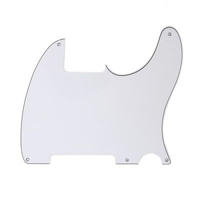 Brio Vintage Esquire 5 Hole Tele® Pickguard RH 3 Ply White