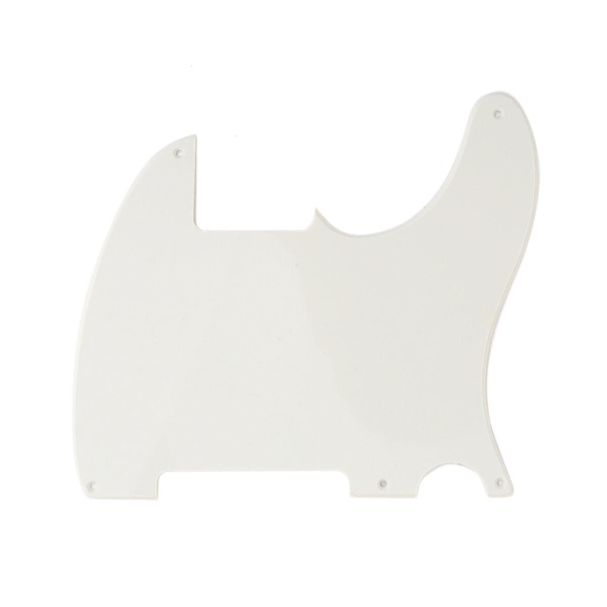 Carparelli Vintage Esquire 5 Hole Tele® Pickguard RH 1 Ply Parchment