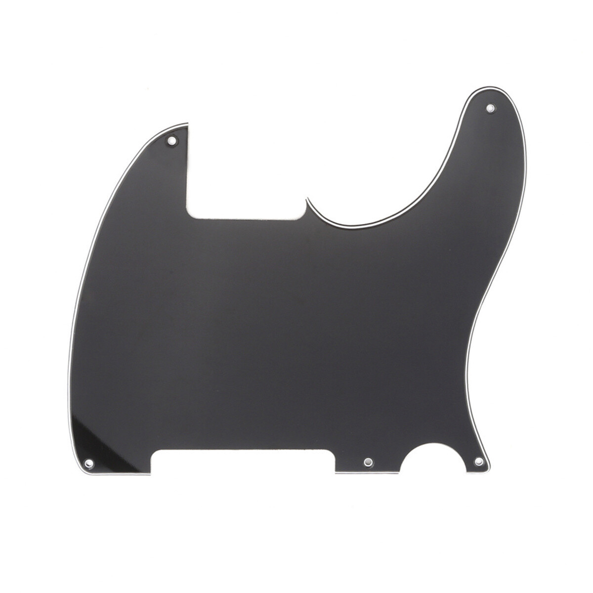 Carparelli Vintage Esquire 5 Hole Tele® Pickguard RH 3 Ply Black