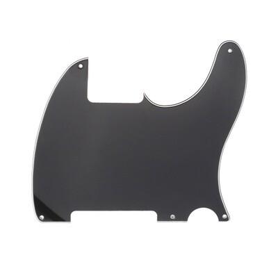 Brio Vintage Esquire 5 Hole Tele® Pickguard RH 3 Ply Black