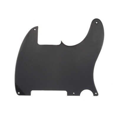 Carparelli Vintage Esquire 5 Hole Tele® Pickguard RH 1 Ply Gloss Black