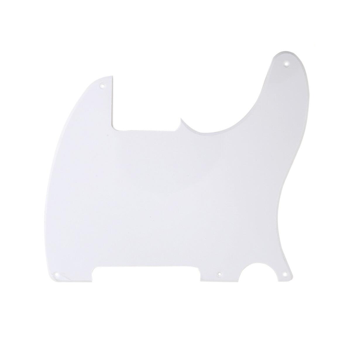 Carparelli Vintage Esquire 5 Hole Tele® Pickguard RH 1 Ply White