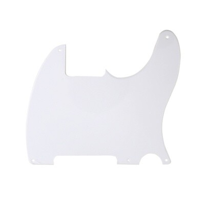Brio Vintage Esquire 5 Hole Tele® Pickguard RH 1 Ply White