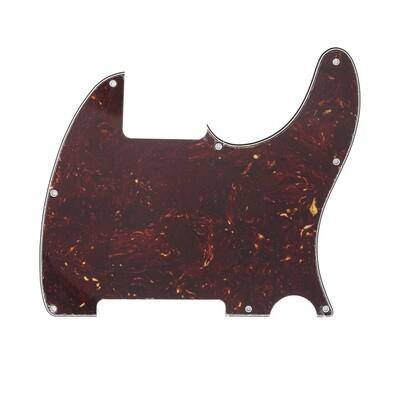 Brio Vintage Esquire 8 Hole Tele® Pickguard RH 4 Ply Brown Tortoise