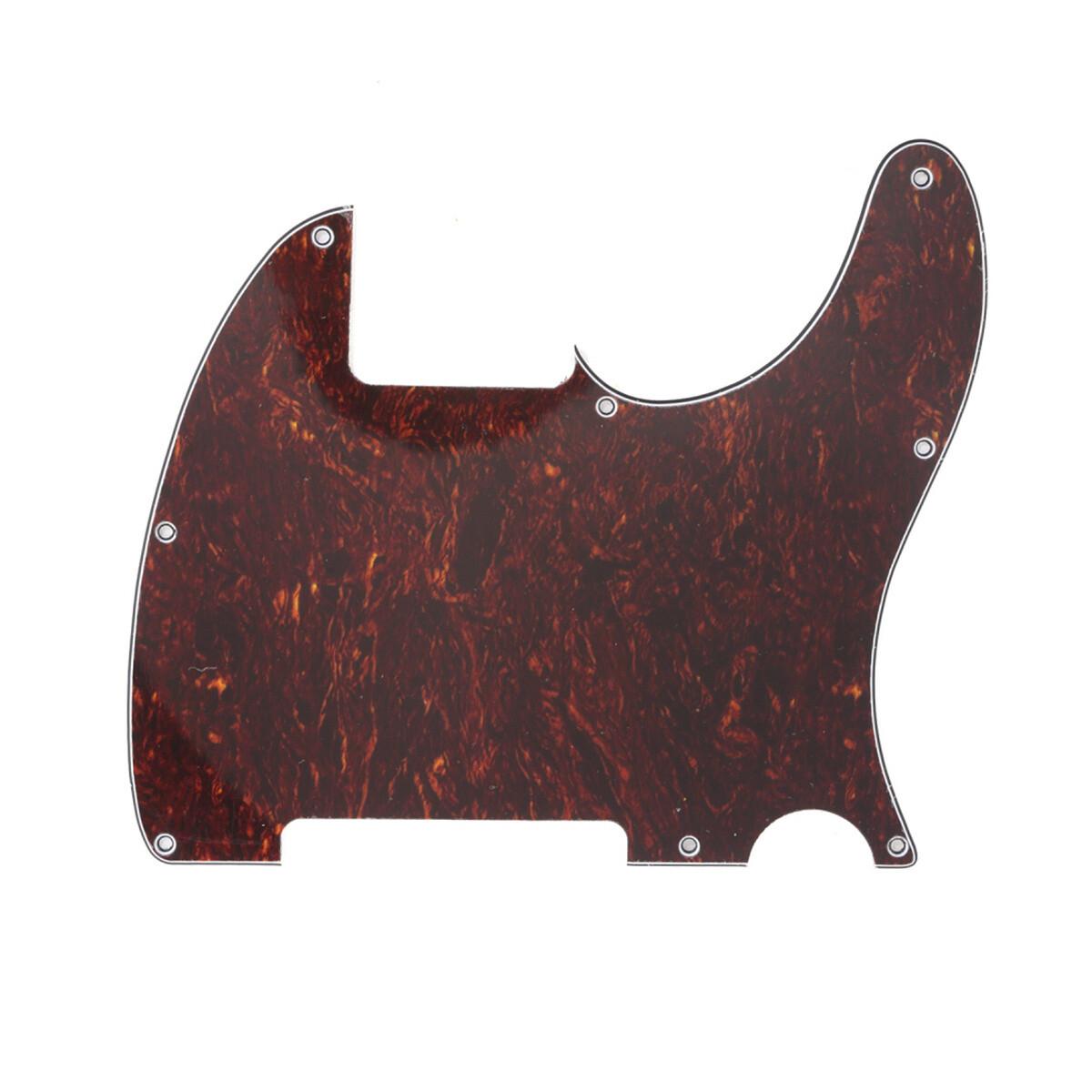 Carparelli Vintage Esquire 8 Hole Tele® Pickguard RH 4 Ply Red Tortoise