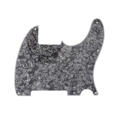 Carparelli Vintage Esquire 8 Hole Tele® Pickguard RH 4 Ply Pearloid Black