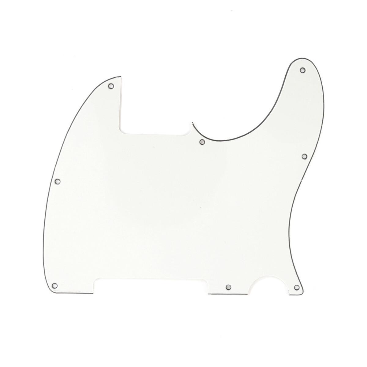 Carparelli Vintage Esquire 8 Hole Tele® Pickguard RH 3 Ply Parchment
