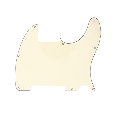 Carparelli Vintage Esquire 8 Hole Tele® Pickguard RH 3 Ply Cream