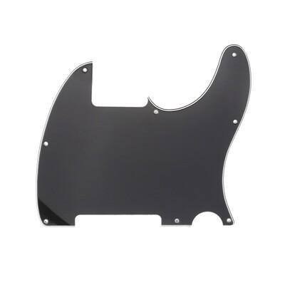 Brio Vintage Esquire 8 Hole Tele® Pickguard RH 3 Ply Gloss Black