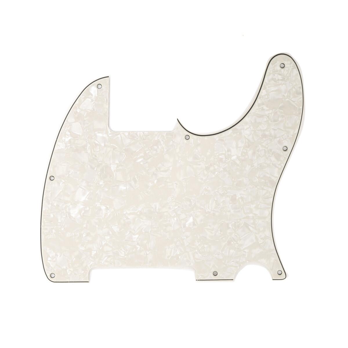Carparelli Vintage Esquire 8 Hole Tele® Pickguard RH 4 Ply Pearloid Parchment