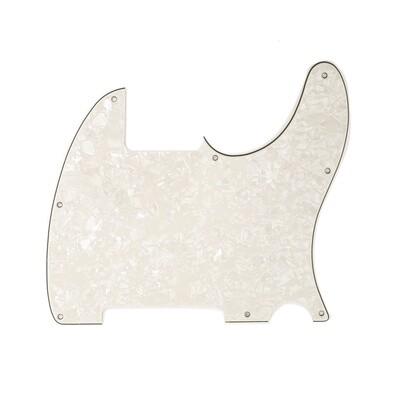 Brio Vintage Esquire 8 Hole Tele® Pickguard RH 4 Ply Pearloid Parchment