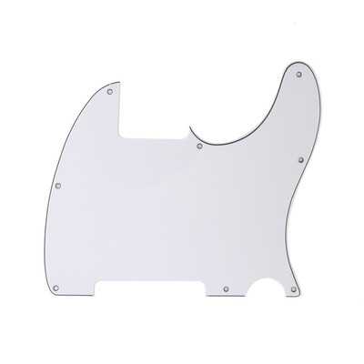 Carparelli Vintage Esquire 8 Hole Tele® Pickguard RH 3 Ply Gloss White
