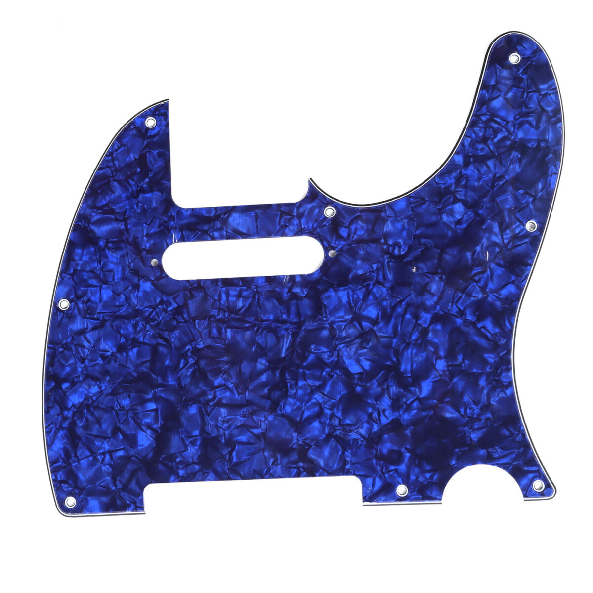 Brio 8 Hole Guitar Tele® Pickguard RH 4 Ply Blue Pearloid