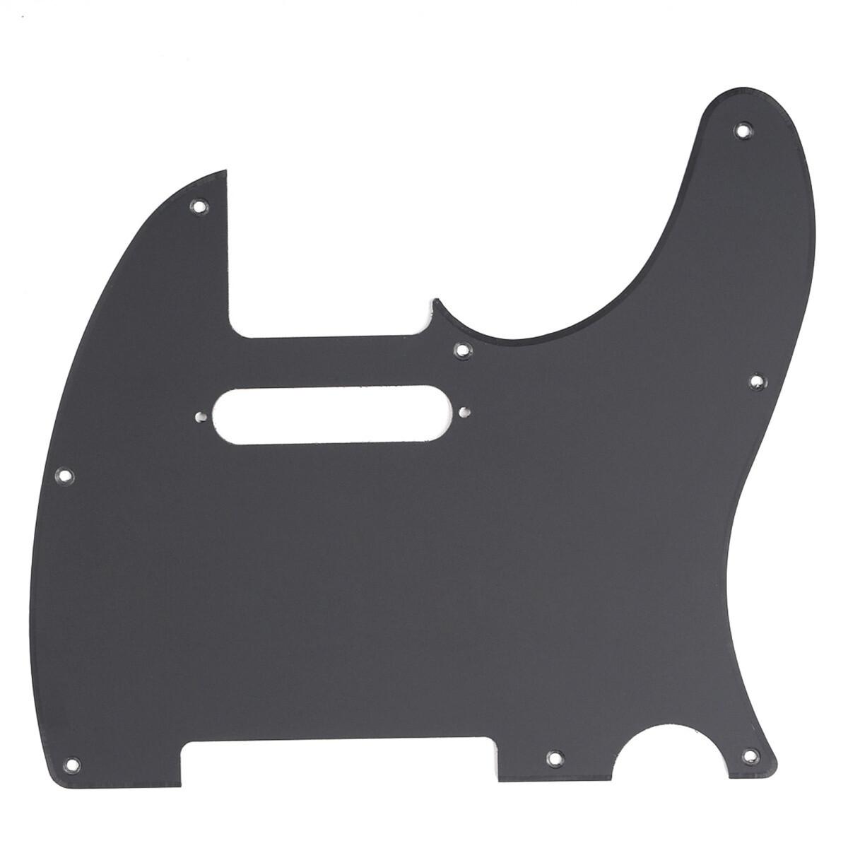 Brio 8 Hole Tele® Pickguard RH 1 Ply Matte Black