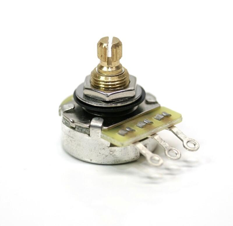 Karat 500K Premium Quality Brass 15mm Split Shaft, Gold Plated Sweeper, Potentiometer