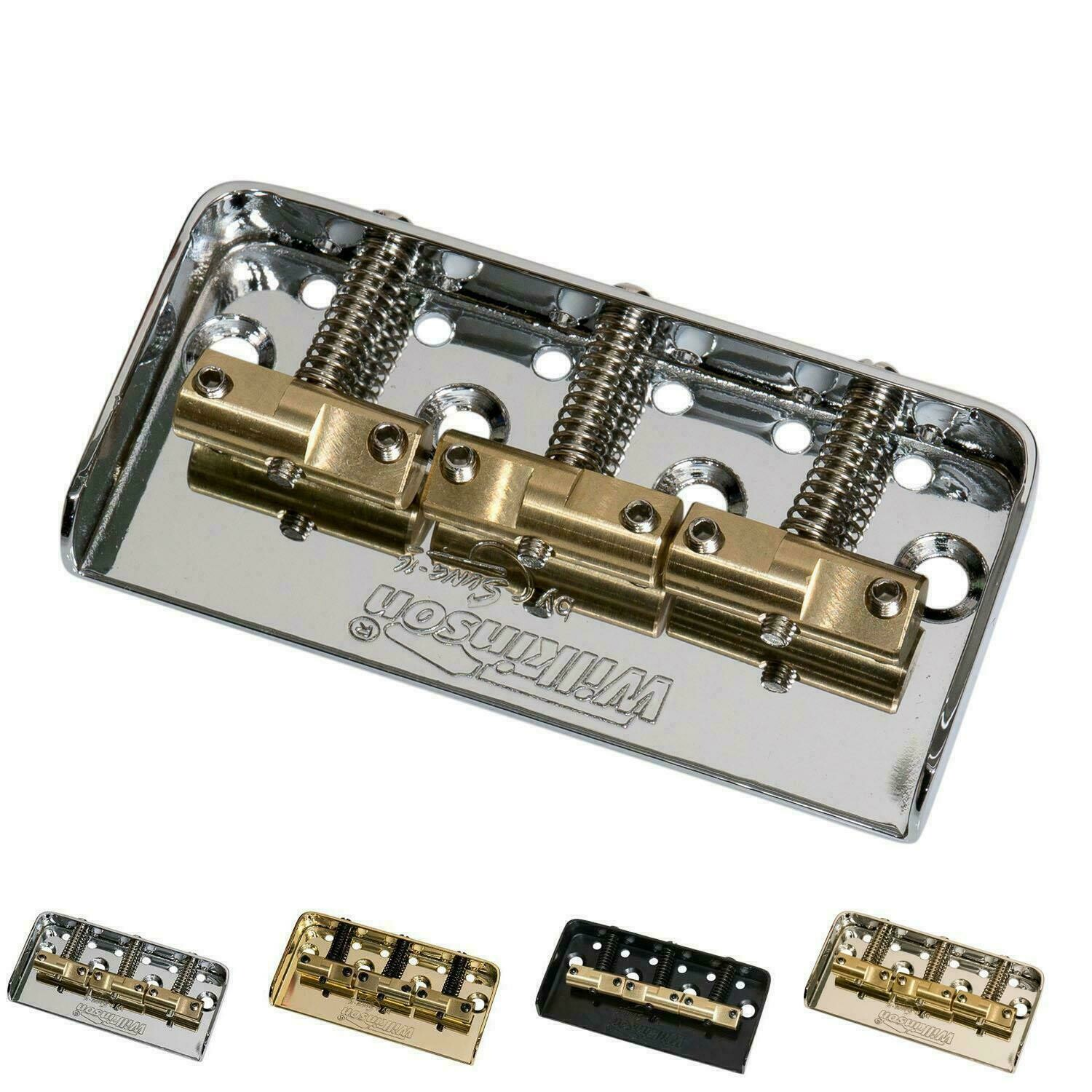 Wilkinson WTBS Short Telecaster Guitar Bridge w/ Compensated Brass Saddles