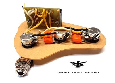Carparelli LEFT HANDED - 5B5-01 FREEWAY SWITCH LOADED PRE-WIRED SSS Parallel