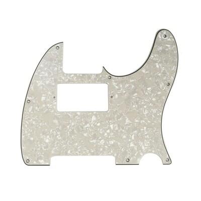 Brio Tele® Humbucker 8 hole 4 Ply Pearloid Parchment (Aged White)