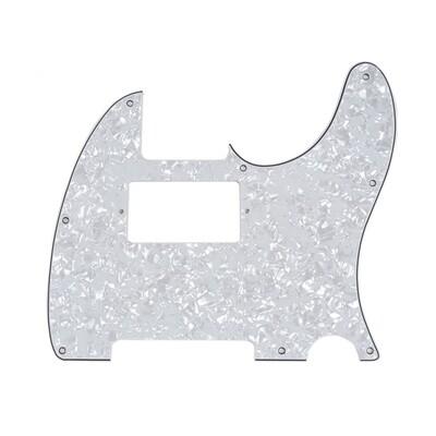 Brio Tele® Humbucker 8 hole 4 Ply Pearloid White