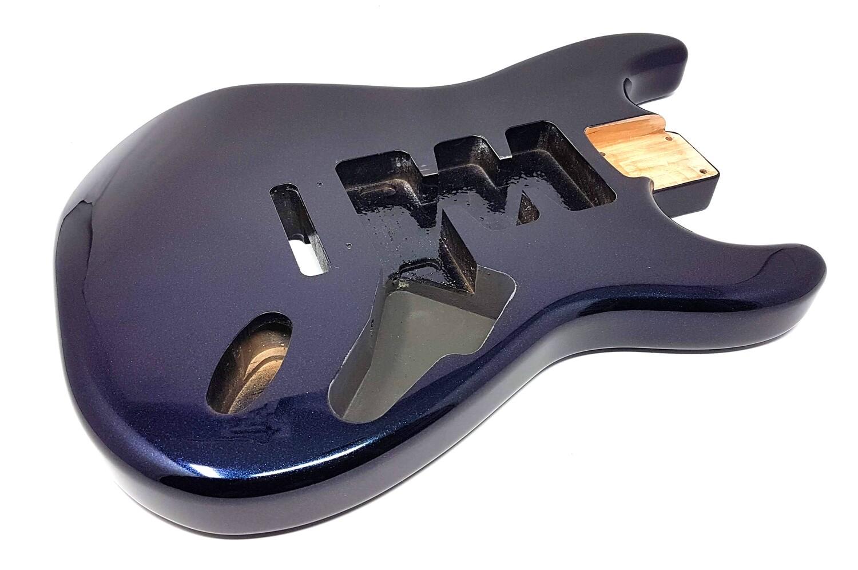 Brio 3pc Alder Strat Guitar Body HSH Blurple