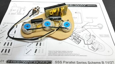 Carparelli - 5B5-01 FREEWAY SWITCH LOADED PRE-WIRED SSS Parallel
