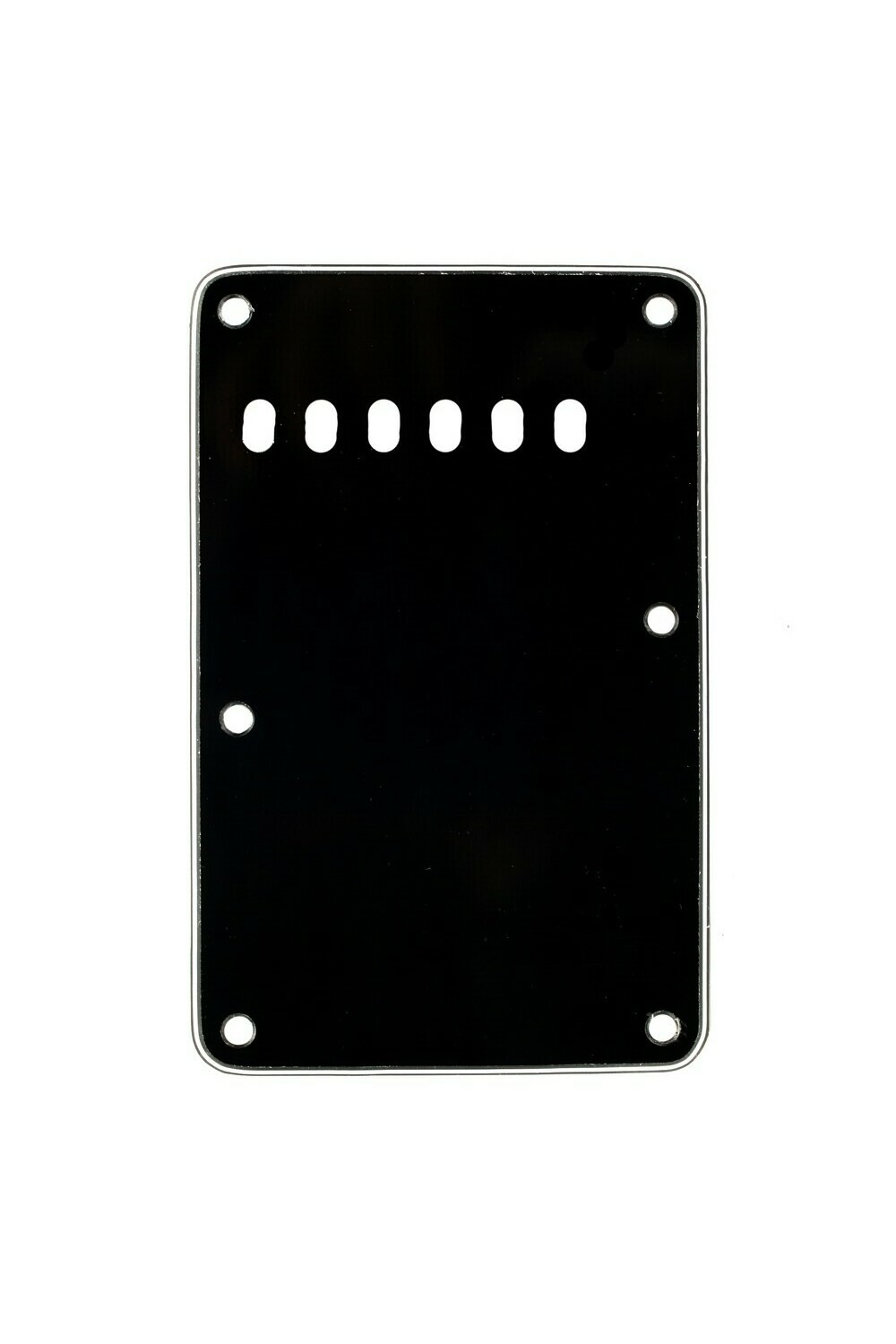 Brio Black Vintage Style Back Plate Tremolo Cover 3 ply - US/Mexican Fender®Strat® Fit