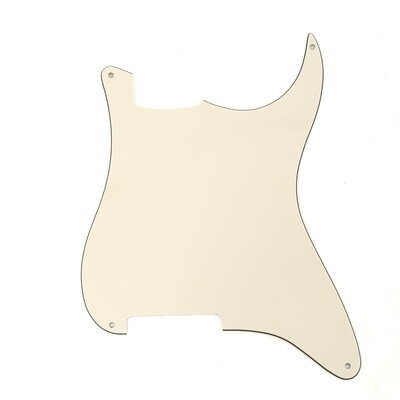 Brio Blank 4 hole outline pickguard for Strat®, 3 Ply Cream