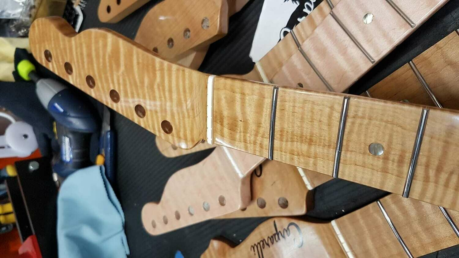 High Flame Maple T-Style Neck