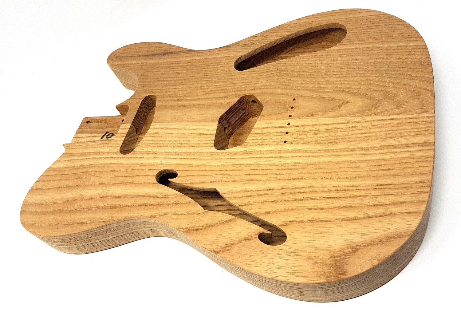 """Brio 2 piece Roasted Swamp Ash Body """"Thinline"""" T-Style Unfinished"""