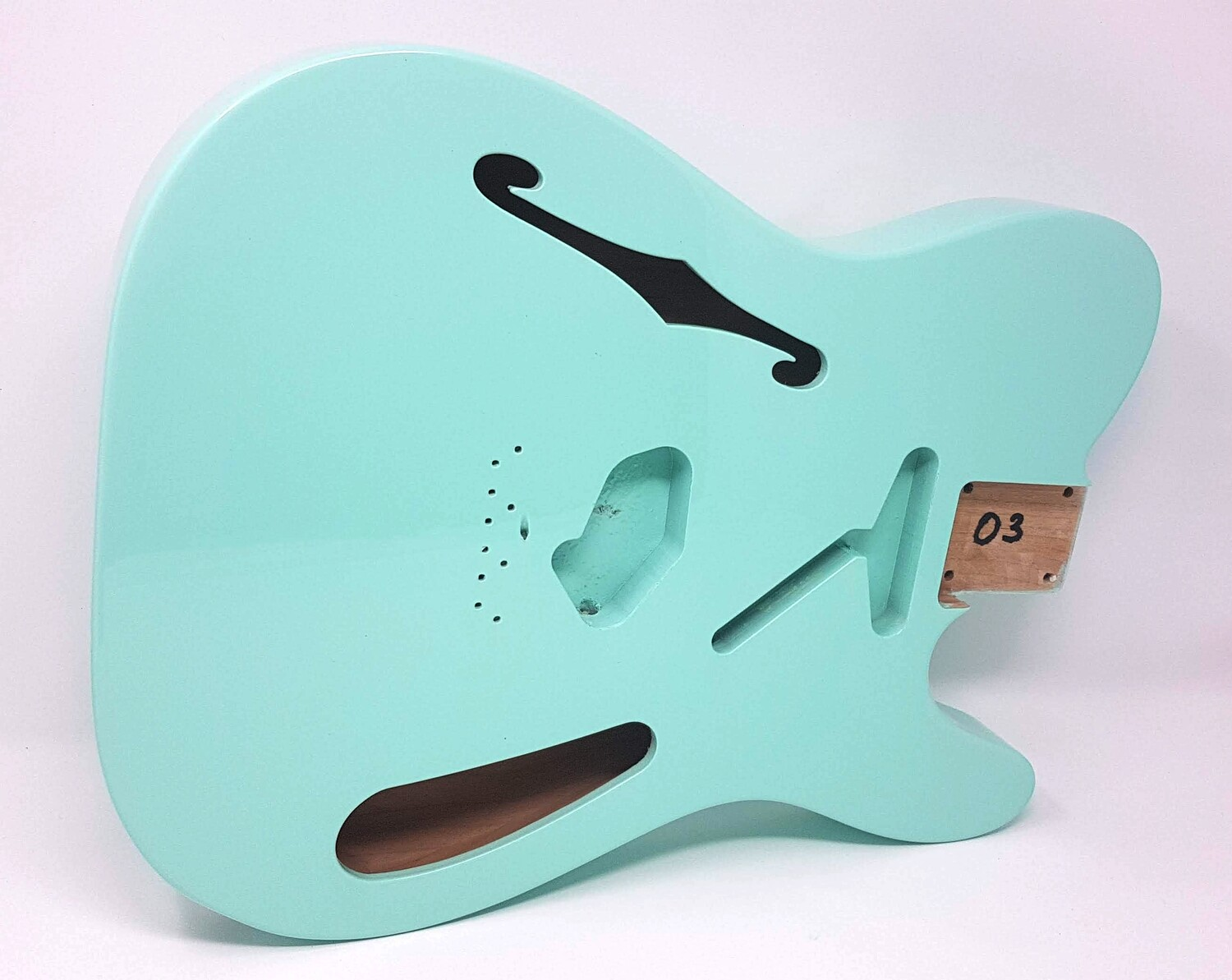 "Brio 2 piece Alder Body ""Thinline"" T-Style Seafoam Green"