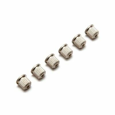 Brio (6) Vintage Style String Ferrules Nickel