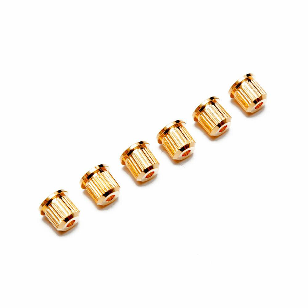 Brio (6) Vintage Style String Ferrules Gold