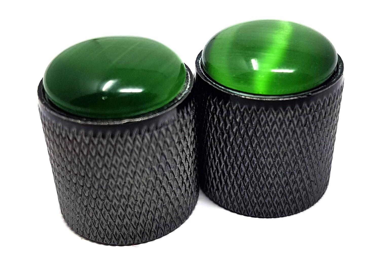 Brio Gem Knob Black w Green Stone - Metric