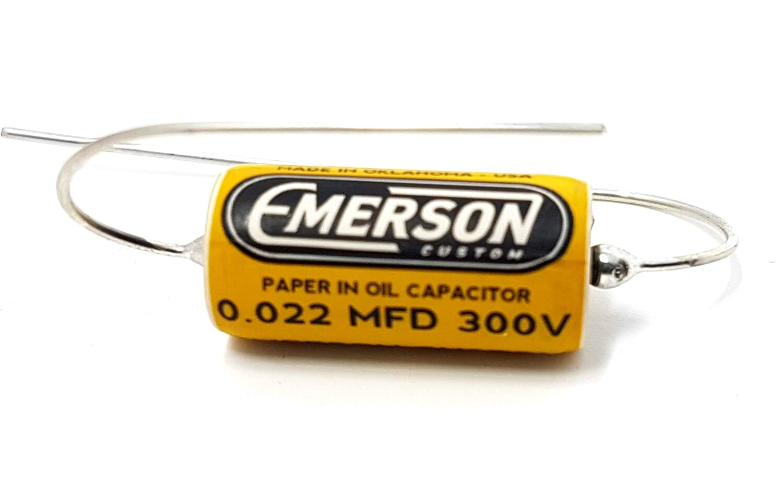 1 x Emerson Paper in Oil Capacitors - 0.022uf 300v (yellow) 2019 Classic