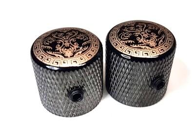 Pattern Metal Knurled Knobs USA & Metric- Pair