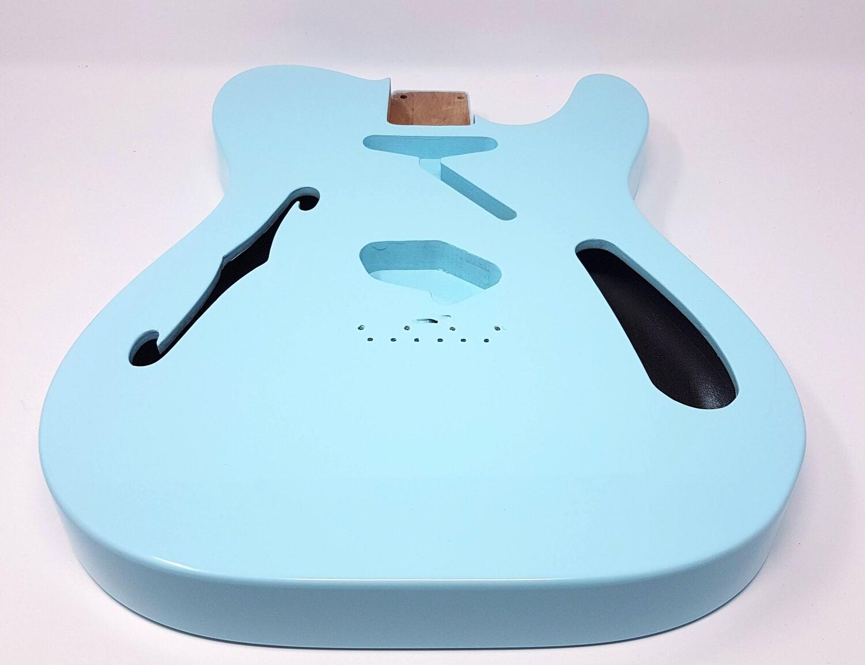 """Brio 2 piece Alder Body """"Thinline"""" T-Style Sonic Blue"""