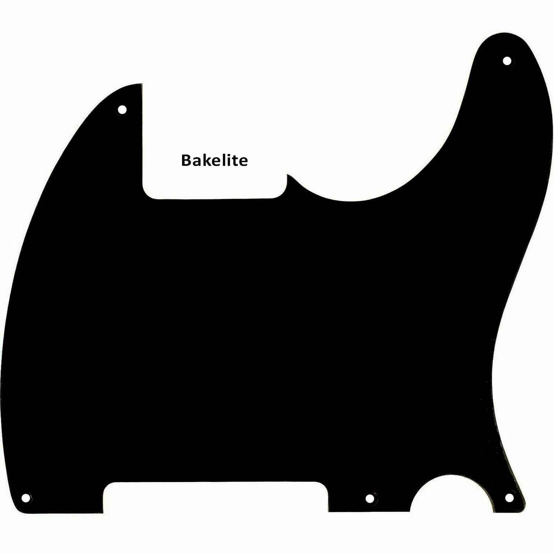 Brio Bakelite 1-Ply Guitar Pickguard For Fender Esquire Black